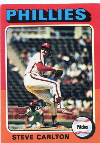 Photo of 1975 Topps #185 Steve Carlton Hall of Famer