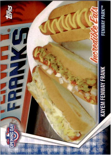 Photo of 2017 Topps Opening Day Incredible Eats #IE16 Kayem Fenway Frank