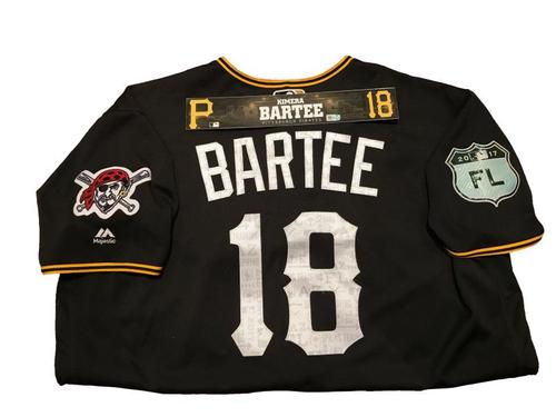 Photo of Kimera Bartee Team-Issued Spring Training Jersey and Game-Used Locker Name Plate