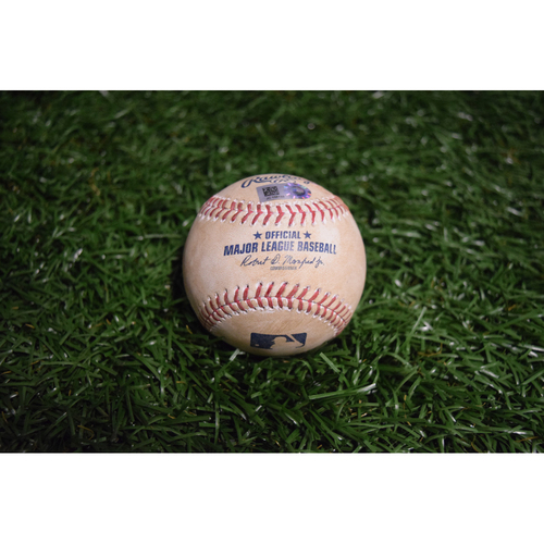 Photo of Game-Used Baseball: Ryne Stanek MLB Home Debut