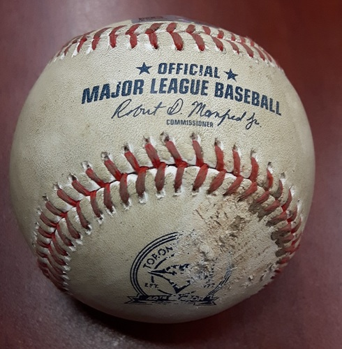 Photo of Authenticated Game Used Baseball - Josh Donaldson Double vs James Paxton