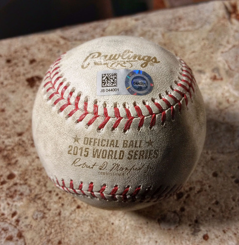 Game-Used Baseball: World Series Game 3 - Batter: Alcides Escobar - Pitcher: Noah Syndergaard - Top 1, First Pitch of Game - Royals vs. Mets, 10/30/15 - JB044001