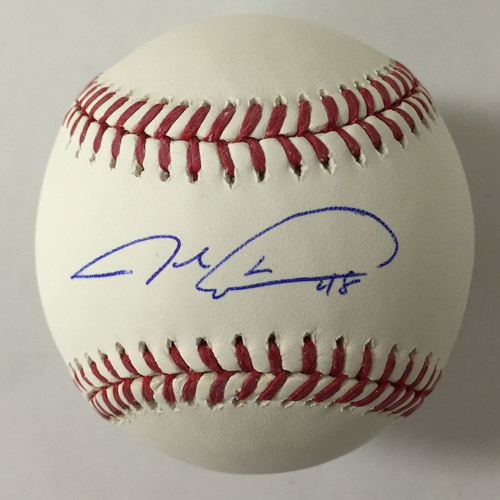 Photo of Jacob deGrom Autographed Baseball