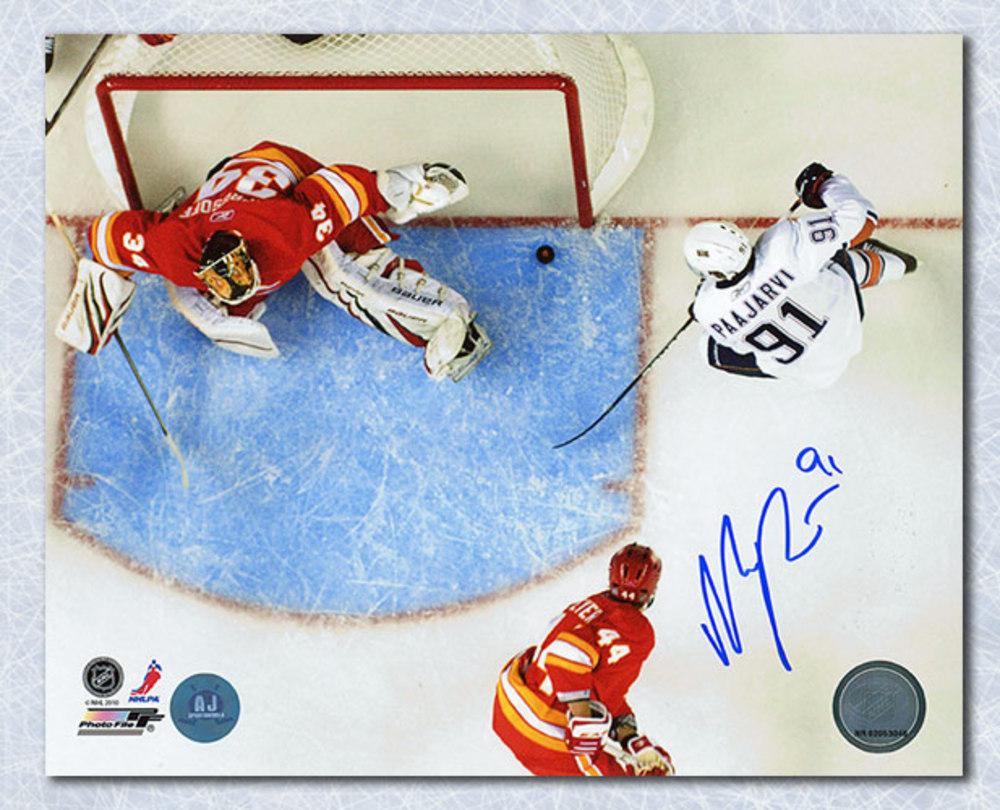 Magnus Paajarvi Edmonton Oilers Autographed 1st NHL Goal 8x10 Photo