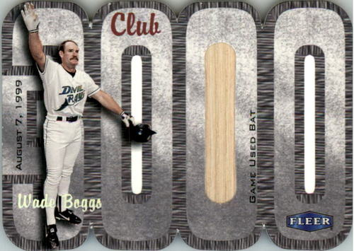 Photo of 2000 Fleer Club 3000 Memorabilia #WB1 W.Boggs Bat/250