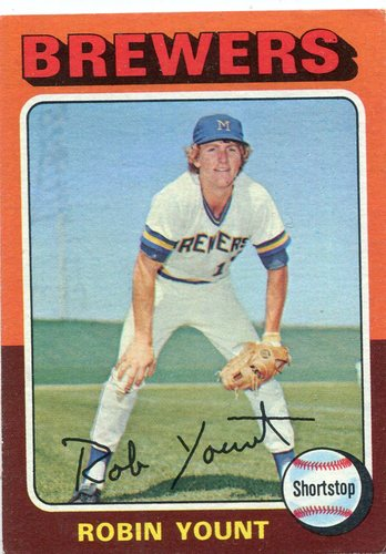 Photo of 1975 Topps #223 Robin Yount Rookie Card Hall of Famer