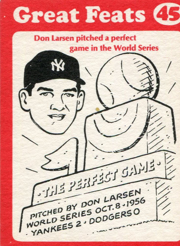 1972 Laughlin Great Feats #45 Don Larsen