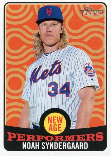 Photo of 2017 Topps Heritage New Age Performers #NAP16 Noah Syndergaard
