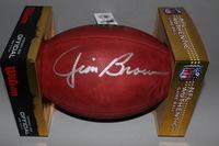 HOF - BROWNS JIM BROWN SIGNED AUTHENTIC FOOTBALL