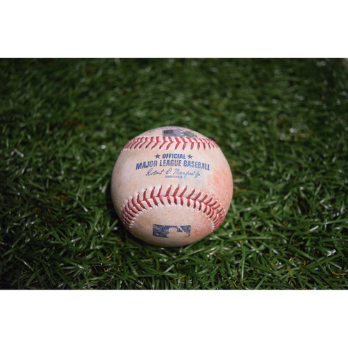 Photo of Game-Used Baseball: Brett Gardner singles off Chris Archer