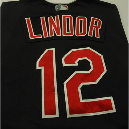 Photo of Francisco Lindor Game Worn Jersey - 1st Career Walk-Off HR