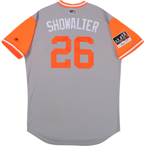 """Photo of Buck """"Showalter"""" Showalter Baltimore Orioles Game-Used Players Weekend Jersey"""