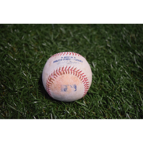 Photo of Game-Used Baseball: Mallex Smith single off Mike Clevinger - 8/12/17 TBTC Night v CLE