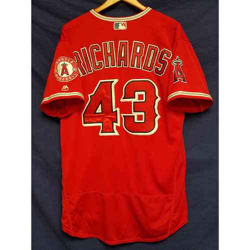 Photo of Garrett Richards Team-Issued Alternate Red Jersey