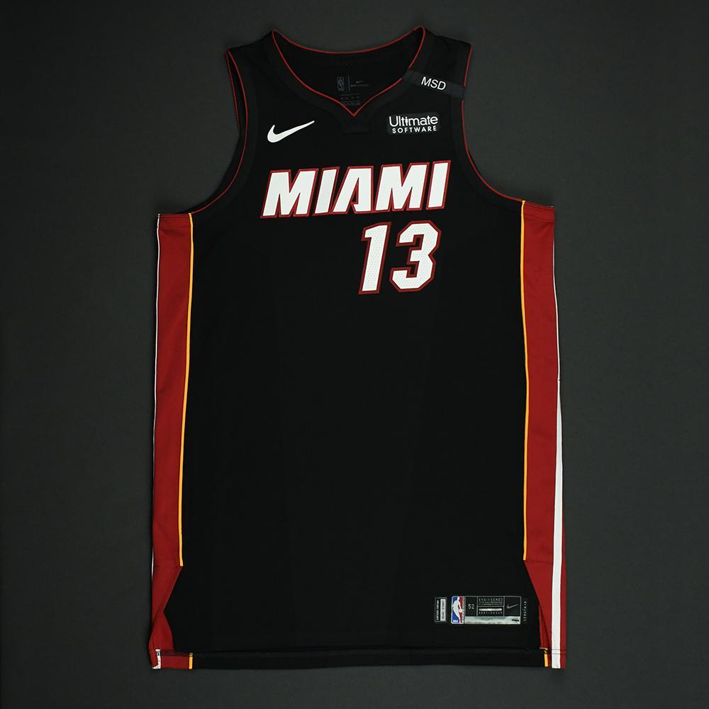 Bam Adebayo - Miami Heat - 2018 NBA Playoffs Game-Worn Jersey