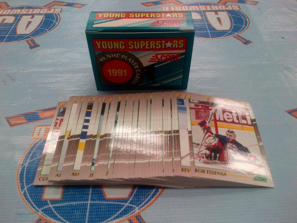1991 Score Young Superstars Complete Hockey Card Set 1-40 *SUNDIN, SAKIC, JAGR, MODANO, BELFOUR, ETC*