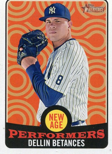 Photo of 2017 Topps Heritage New Age Performers #NAP18 Dellin Betances