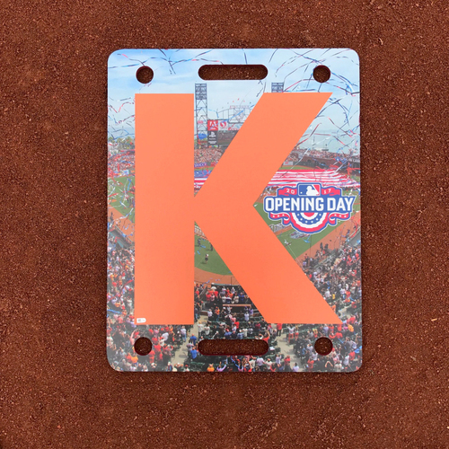Photo of San Francisco Giants - Home Opening Day - K Board