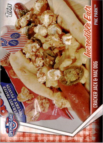 Photo of 2017 Topps Opening Day Incredible Eats #IE17 Cracker Jack & Mac Dog