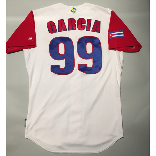 Photo of 2017 WBC: Cuba Game-Used Home Jersey, Garcia #99