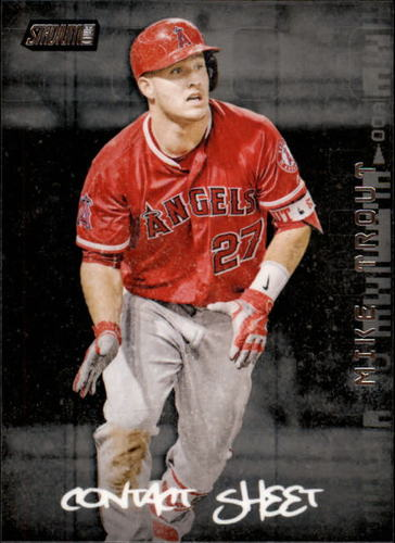 Photo of 2017 Stadium Club Contact Sheet #CSMT Mike Trout