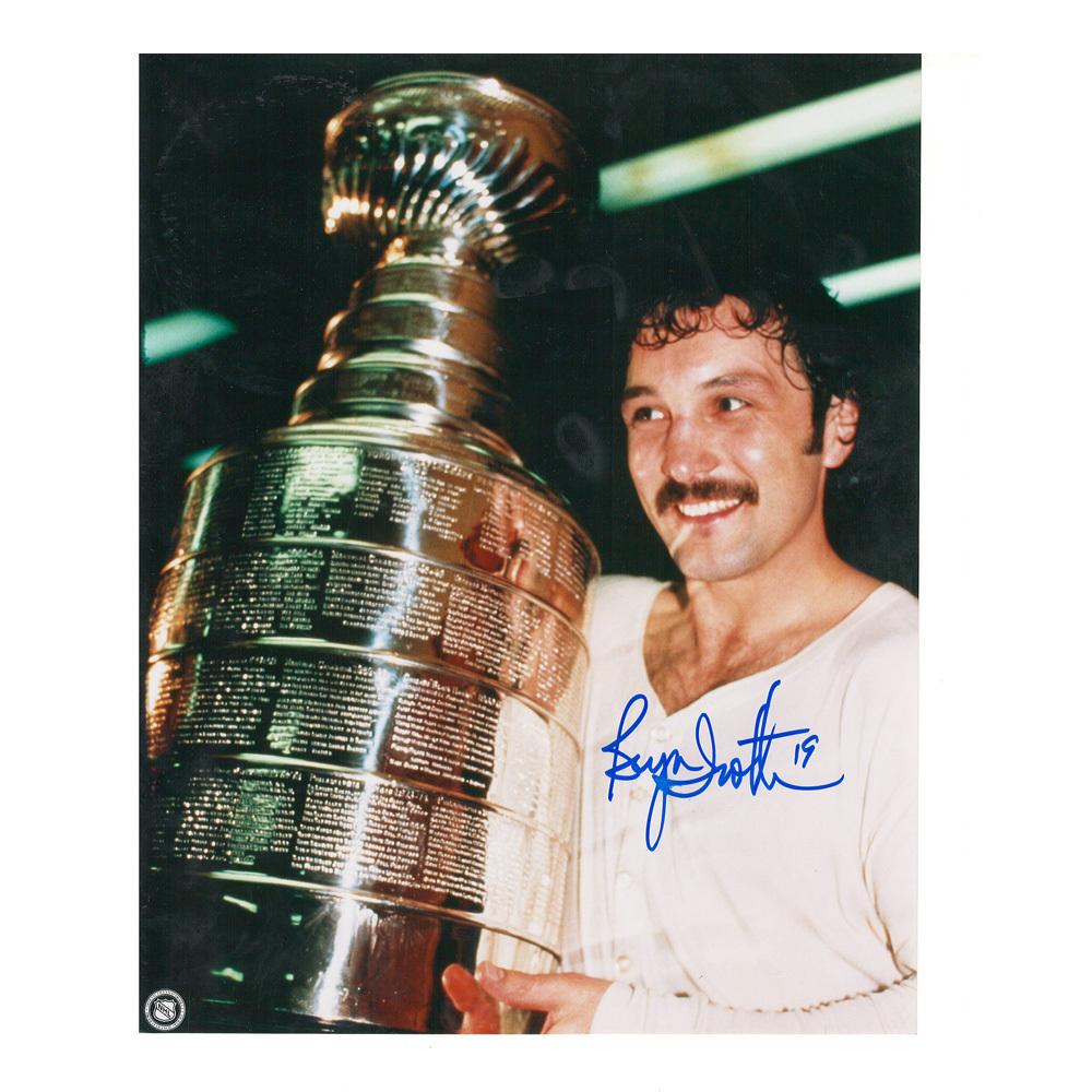 BRYAN TROTTIER Signed New York Islanders 8 X 10 Photo w/ Cup - 70270