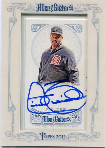 Photo of 2013 Topps Allen and Ginter Autographs #CF Cecil Fielder