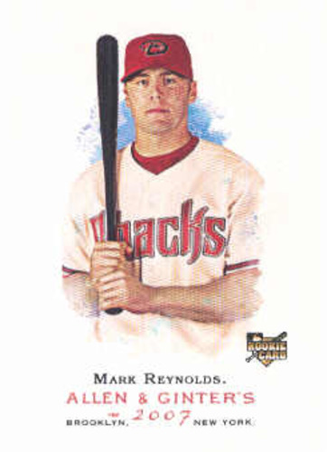 Photo of 2007 Topps Allen and Ginter #101 Mark Reynolds Rookie Card -- Rockies post-season