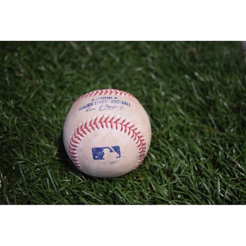 Photo of Game-Used Baseball: Giovanny Urshela single off Chris Archer - 8/12/17 TBTC Night v CLE