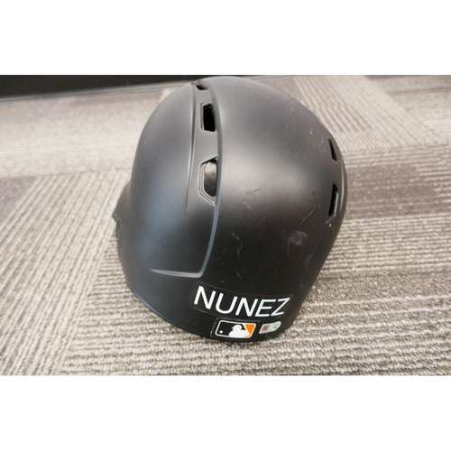 Photo of San Francisco Giants - HOLIDAY STEALS - 2017 Game-Used Batting Helmet - #10 Eduardo Nunez - (Size 7 1/4)