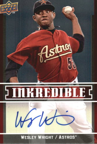 Photo of 2009 Upper Deck Inkredible #WW Wesley Wright S2