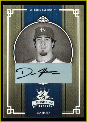 Photo of 2005 Diamond Kings Signature Silver B/W #212 Dan Haren/50