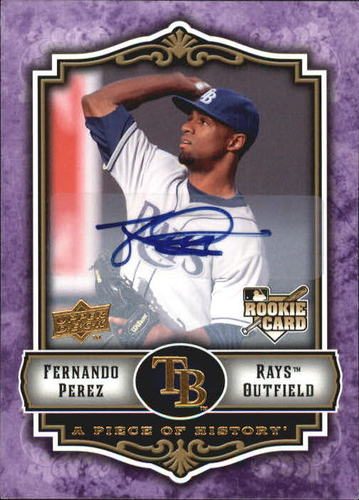 Photo of 2009 UD A Piece of History Rookie Autographs Violet #143 Fernando Perez