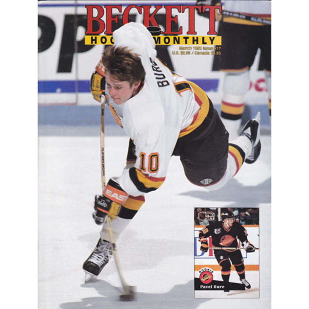 Pavel Bure Vancouver Canucks Beckett Hockey Monthly Magazine