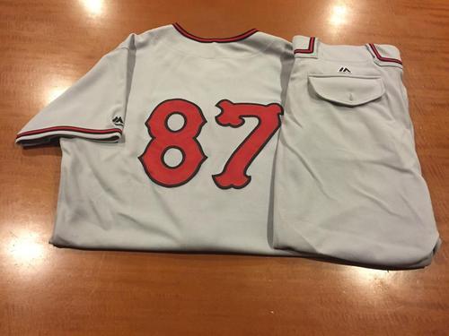 Photo of Dustin Hughes Game-Used Cincinnati Tigers Uniform