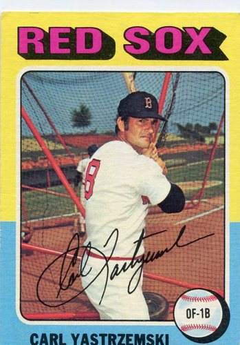 Photo of 1975 Topps #280 Carl Yastrzemski Hall of Famer