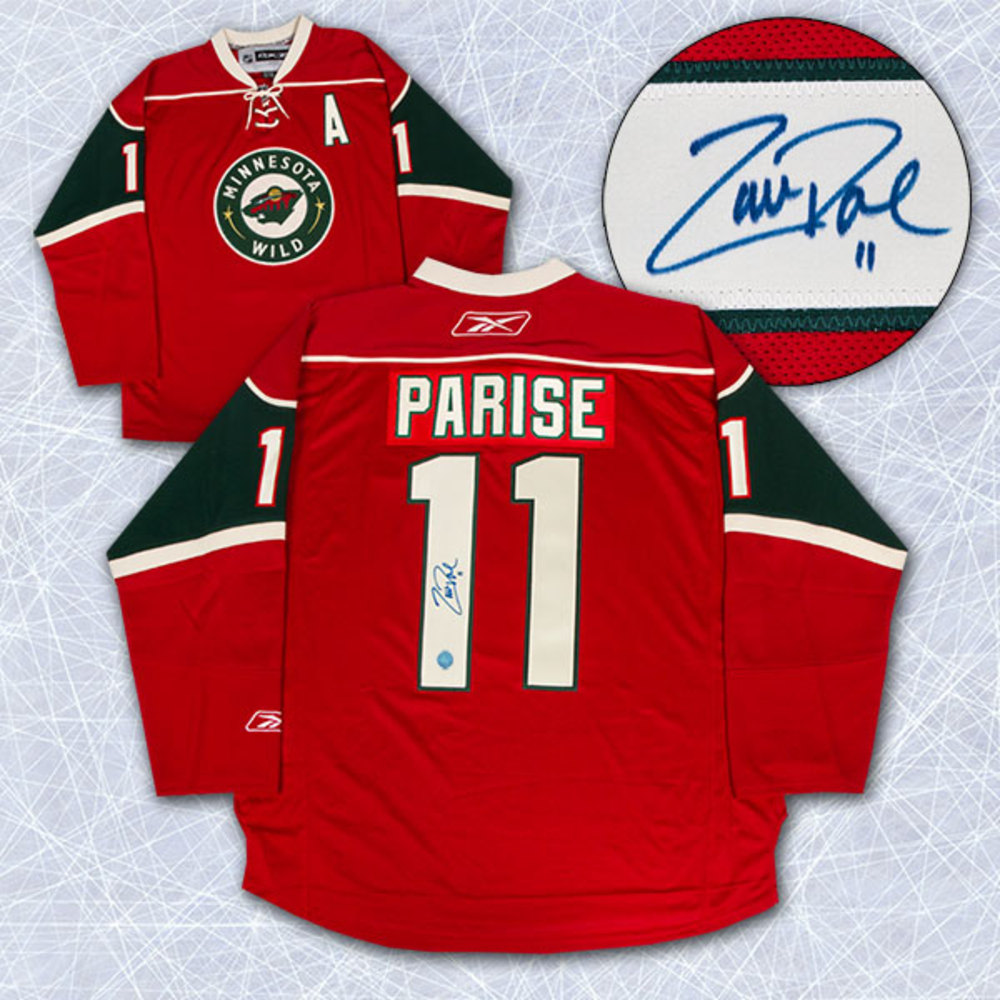 Zach Parise Minnesota Wild Autographed Reebok Premier Hockey Jersey