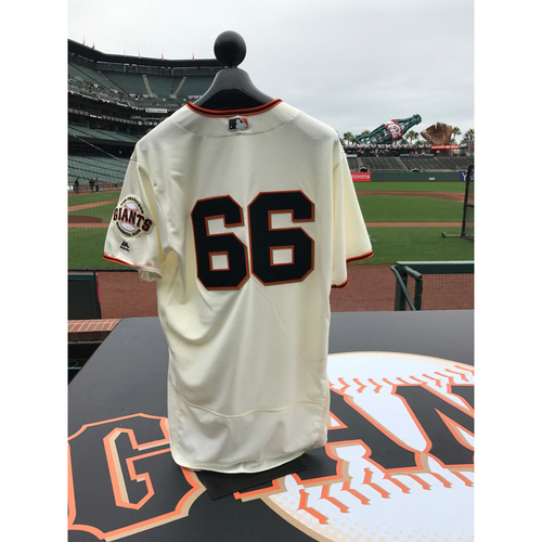 Photo of San Francisco Giants - Home Opening Day Jersey - Game Used - Gorkys Hernandez #66