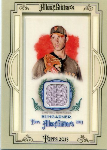 Photo of 2013 Topps Allen and Ginter Framed Mini Relics #MBU Madison Bumgarner