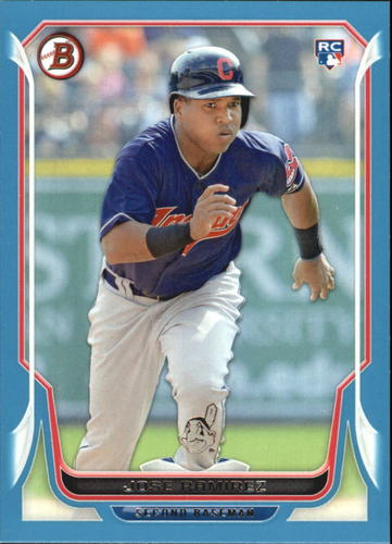Photo of 2014 Bowman Blue #176 Jose Ramirez -- Indians post-season