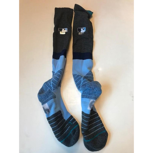 Photo of Game Worn Dixon Machado Father's Day Socks
