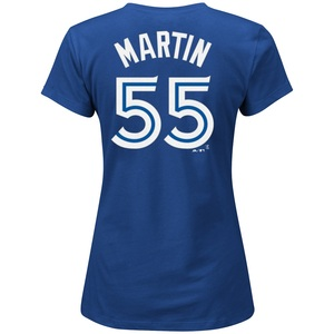 Toronto Blue Jays Women's Russell Martin Player T-Shirt by Majestic