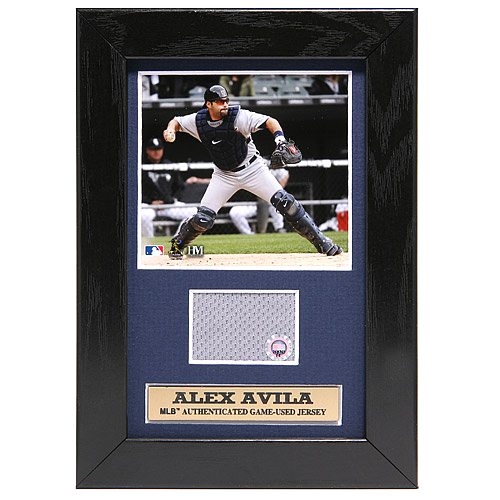 Photo of Detroit Tigers Alex Avila Mini Plaque with Game-Used Jersey Swatch