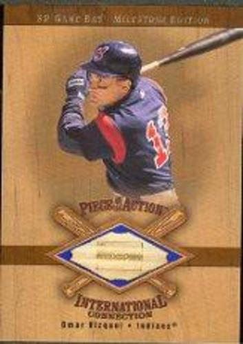 Photo of 2001 SP Game Bat Milestone Piece of Action International #IOV Omar Vizquel *