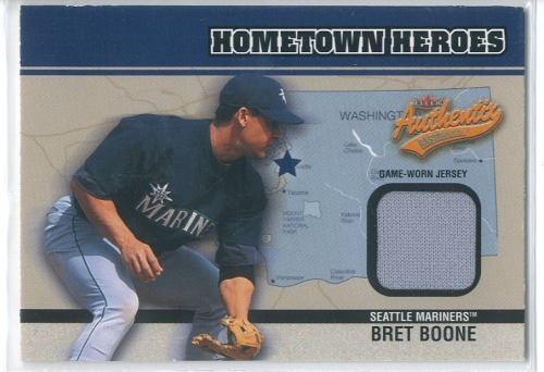 Photo of 2003 Fleer Authentix Hometown Heroes Memorabilia #BB Bret Boone Jsy SP/200