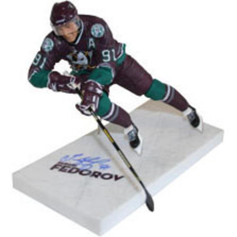 Sergei Fedorov Autographed Anaheim Ducks McFarlane Figurine