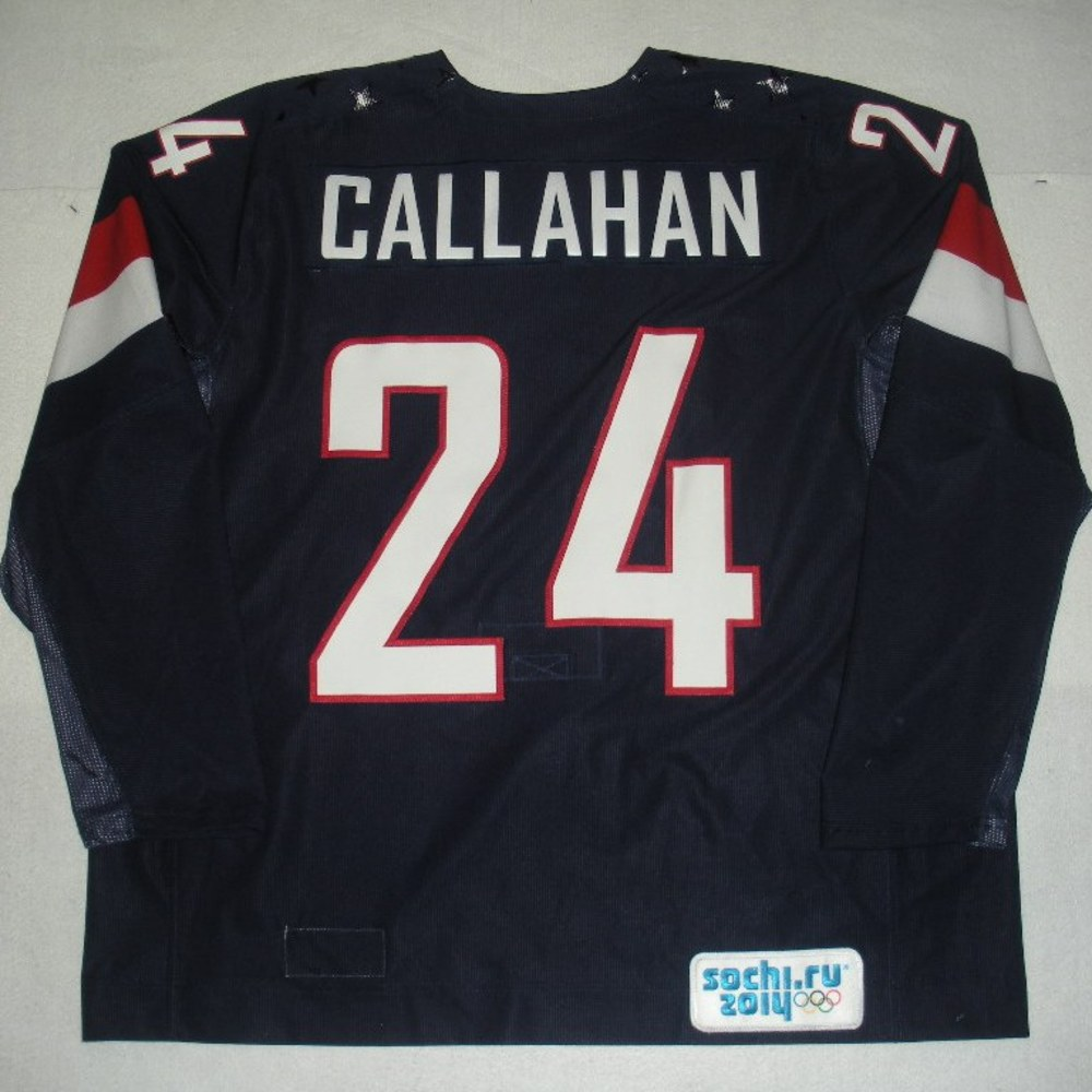 Ryan Callahan - Sochi 2014 - Winter Olympic Games - Team USA Blue Game-Worn Jersey - Bronze Medal Game vs. Finland, 2/22/14