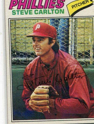 Photo of 1977 Topps #110 Steve Carlton -- Hall of Famer