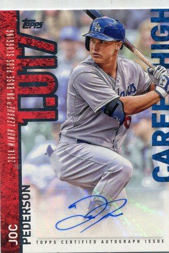 Photo of 2015 Topps Career High Autographs #CHAJPE Joc Pederson -- Dodgers post-season
