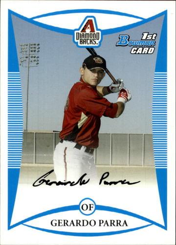 Photo of 2008 Bowman Prospects #BP18 Gerardo Parra -- Rockies post-season